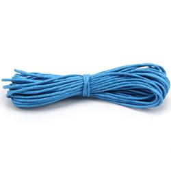 Waxkoord katoen 1mm - 5 meter - Blauw
