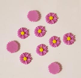Acryl Flowers Margriet - 10 stuks - Lila/Rose