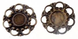 Bronzen cirkel  25mm - 5 stuks