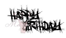 Happy Birthday Graffiti  (Magnolia nr. 47 )