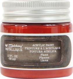 967833 Flame - Finnabair Art Alchemy Metallique Acrylic Paint  - PAKKETPOST!