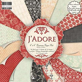 Paperpad 20 x 20cm - 48 vel - J`adore - First Edition