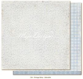 736 Scrappapier dubbelzijdig - Vintage Baby - Maja Design