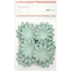 "SB832 Paper Flowers 1.97"" (5cm) 25 stuks - Sky Blue - Kaisercraft"