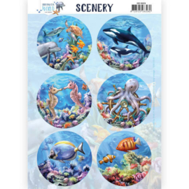 CDS10029 Scenery stansvel - Under Water World - Amy Design