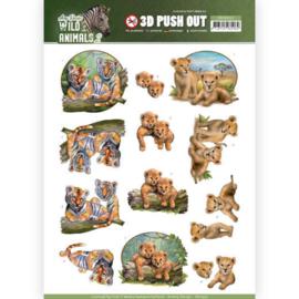 SB10352 3D Stansvel A4 - Wild Animals - Amy Design