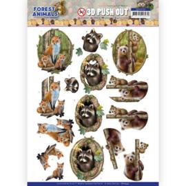 SB10535 Stansvel 3D vel A4 - Forest Animals - Amy Design