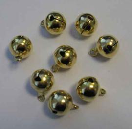 Belletjes Goud 12mm - 8 stuks - Hobby Crafting
