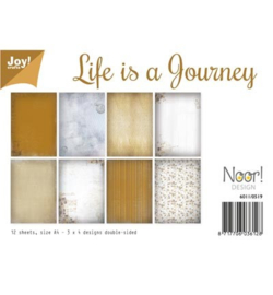 6011/0519 Paperbloc A4 a 12 vel - Life is a Journey - Joy Crafts