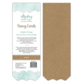 Fancy Cards - 20 stuks 300 grams kraft  10,5 x 30,48cm - Mintay