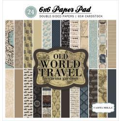 Paperpad 15x15cm - Old World Travel - Carta Bella