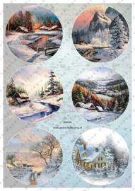 GH3385 Vintage vel - Cirkels Winter/Kerst - Gerda's Hobbyshop