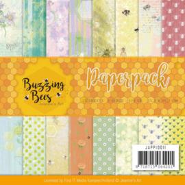 JAPP10011 Paperpad - Buzzing Bees - Jeanine's Art