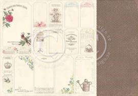PD3612 Scrappapier Dubbelzijdig - Vintage Garden - Pion