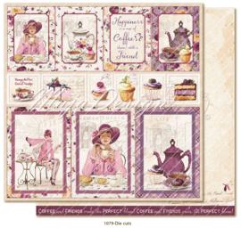 1079 Scrappapier dubbelzijdig - Little Street Café - Maja Design
