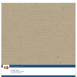 45 Kraft Capuccino - Linnen Karton 30,5 x 30,5cm - 10 stuks - 200 grams - Card Deco - PAKKETPOST!!