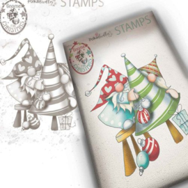 PD7950 Polkadoodles stamp Gnome - Decorating the Tree