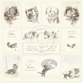PD1633 Scrappapier - Our Furry Friends - Pion Design