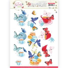 SB10543 Stansvel 3D vel A4 - Butterfly Touch - Jeanine's Art