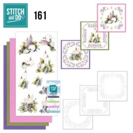 Stitch and Do 161 - set voor 3 borduurkaarten - KERST