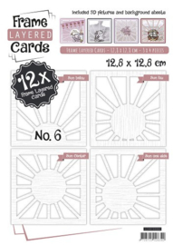 Frame Layered Cards Vierkant - nummer 6