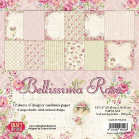 Paperpad Bellissima Rosa - 30.5 x 30.5cm - 12 vel - Craft & You