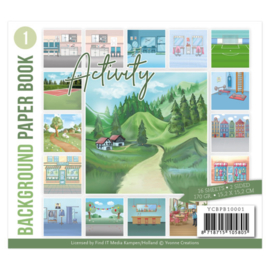 YCBPB10001 Background Paper Book 1  - Yvonne Creations - Activity