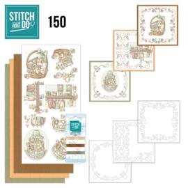 Stitch and Do 150 - set voor 3 borduurkaarten