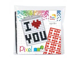 Sleutelhanger setje compleet - I love you  -  Pixel Hobby