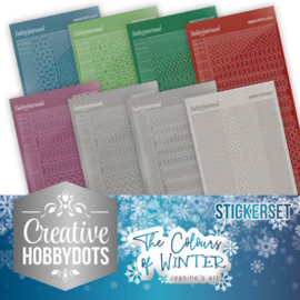 CHSTS007 Stickers bij Creative Hobbydots - The Colours of Winter - Jeanine's Art