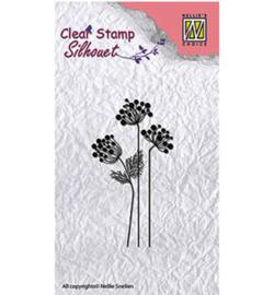 SIL016 Silhouette stempel Flowers - Nellie Snellen