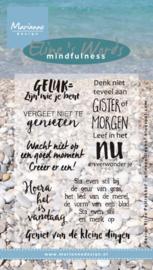 EC0163 Clearstempel NL Tekst - Marianne Design