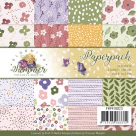 PMPP10023 Paperpad - Blooming Summer - Marieke Design