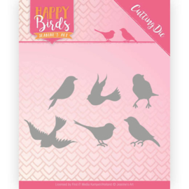 JADD10090 Snij- en embosmal - Happy Birds - Jeanine's Art