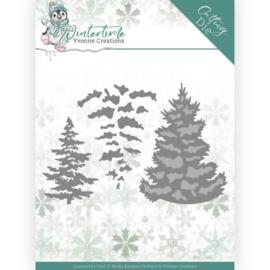 YCD10216 Snij- en embosmal  - Winter Time - Yvonne Creations