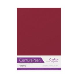 Cherry - Glanskarton A4 310 grams - 10 vel - Centura Pearl