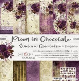 Plum in Chocolate - Paperpad 15.2 x 15.2 cm - Craft O' Clock