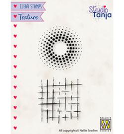 TXCS024 Clearstempel - Dots & squares - Nellie Snellen