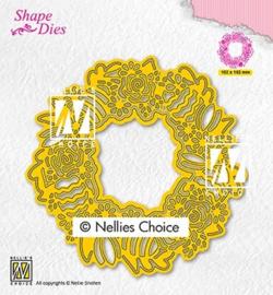 SD188 Snij- en embosmal - Pasen krans - Nellie Snellen