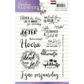 PMCS10028 Clearstempel - Tekst NL - Timeless Flowers - Marieke Design