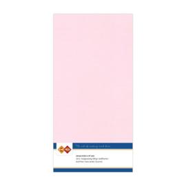 15 Licht Roze - Linnen Kaarten 4 kant 13.5x27cm - 10 stuks - 200 grams - Card Deco