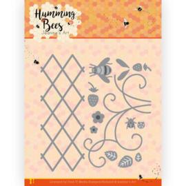 JAD10128 Snij- en embosmal  - Humming Bees - Jeanines Art