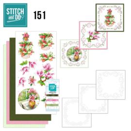 Stitch and Do 151 - set voor 3 borduurkaarten