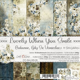 Lovely When Your Smile - Paperpad 15.2 x 15.2 cm - Craft O Clock