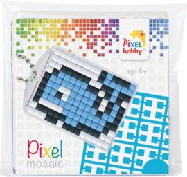 Sleutelhanger setje compleet - Walvis  -  Pixel Hobby