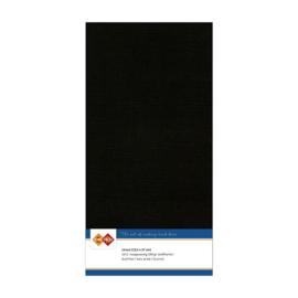 31 Zwart - Linnen Kaarten 4 kant 13.5x27cm - 10 stuks - 200 grams - Card Deco