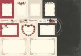PD6811 Scrappapier dubbelzijdig - To My Valentine - Pion Design