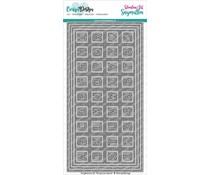 CarlijnDesign Snijmallen DL Slimline Kaart 4 Chocolade Alfabet CDSN-0082