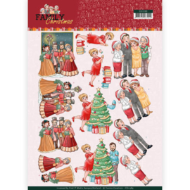 CD11389  3D vel A4 - Family Christmas - Yvonne Creations
