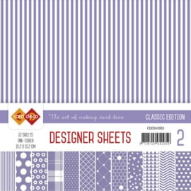 CDDSVI002 Designer Sheets 15x15cm - Violet - Card Deco